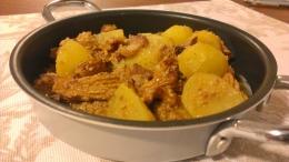 154. Guiso otoñal de Patatas y Rebozuelos (50minutos)