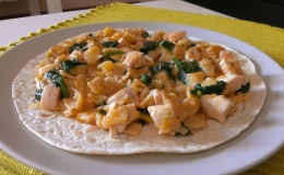 160. Gazpachos manchegos de Pollo, Espinacas y Ajos tiernos (50min)